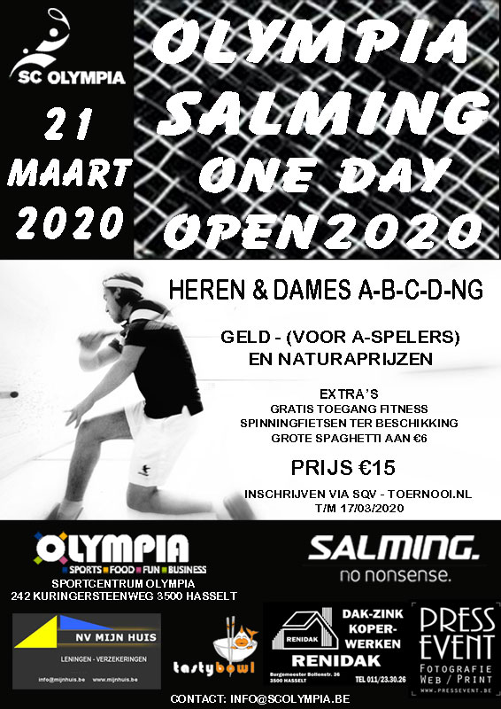 Olympia-Salming One Day Open 2020